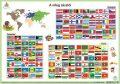 """STIEFEL Könyökalátét, kétoldalas, A3, STIEFEL """"Világ zászlói"""""""